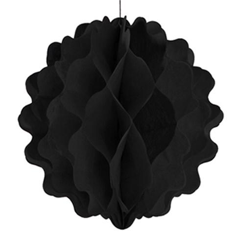 "8"" Black Paper Honeycomb Ball"