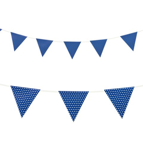 Blue with Polka Dots - Paper Flag Banner (1)