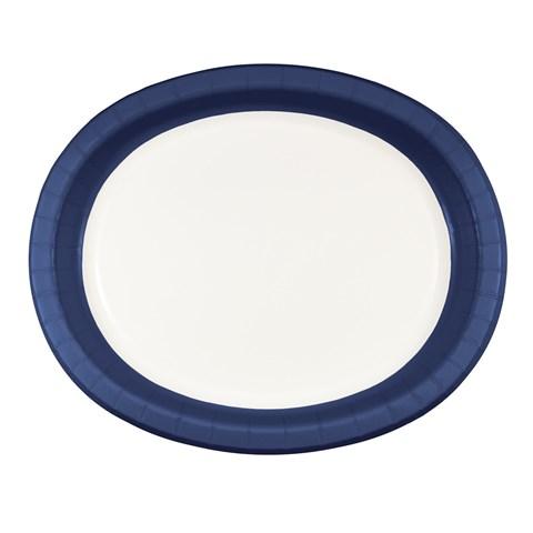 Navy Rim Oval Platter (8)