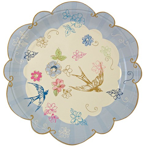 Love in the Afternoon Dessert Plates (12)