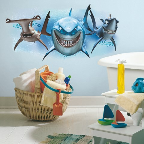 Disney Finding Nemo Sharks Giant Wall Decal