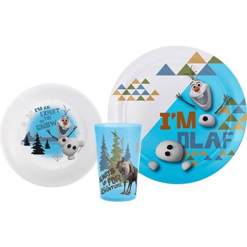 Disney Frozen Olaf Plate, Bowl & Tumbler Set
