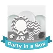 Chevron Silver Party in a Box