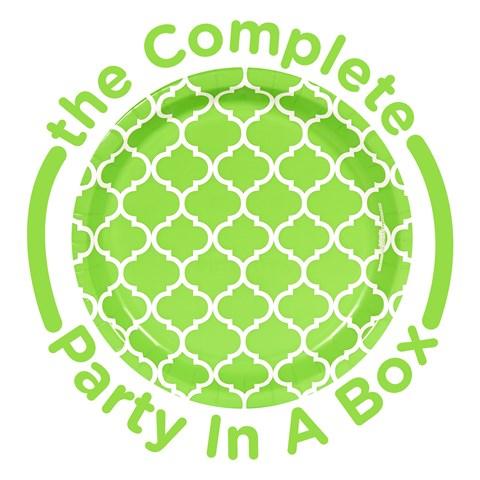 Fresh Lime Quatrefoil Party in a Box