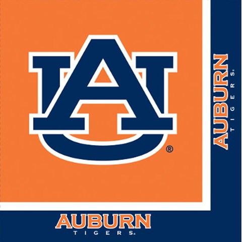 University of Auburn Tigers Lunch Napkins (20)