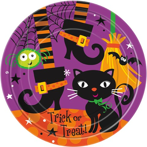 Halloween Spooky Boots Dinner Plates (8)