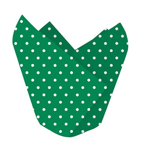 Green with White Polka Dots Baking Cups