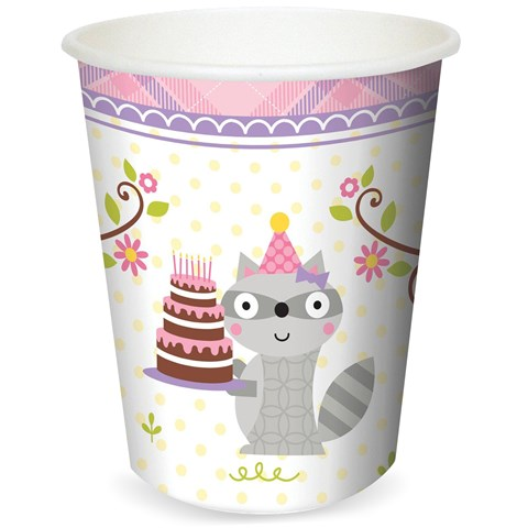 Happi Woodland Girl 9 oz. Cups (8)