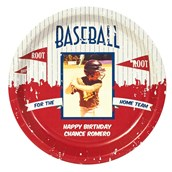 Baseball Time Personalized Dinner Plates (8)