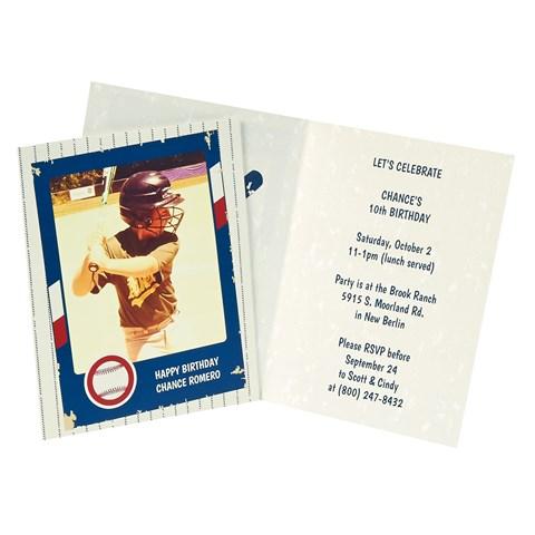 Baseball Time Personalized Invitations (8)