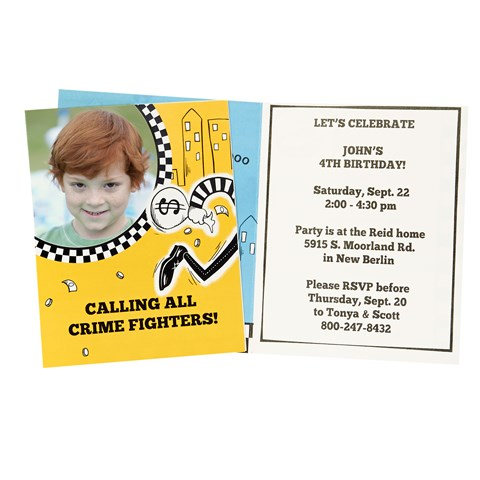 Cops and Robbers Personalized Invitations (8)