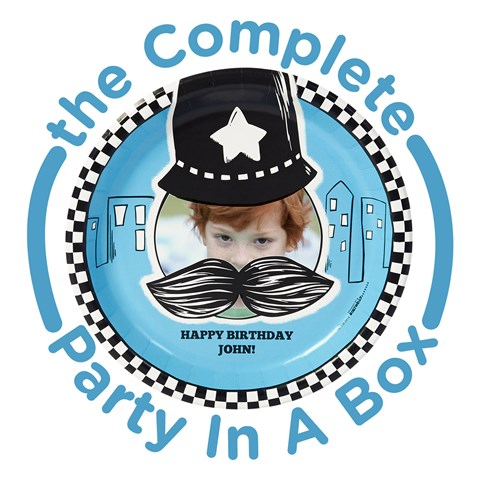 Cops and Robbers Personalized Party in a Box