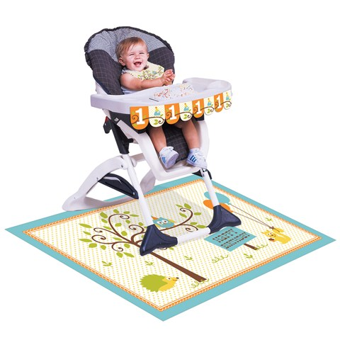 Happi Woodland Boy 1st Birthday High Chair Kit