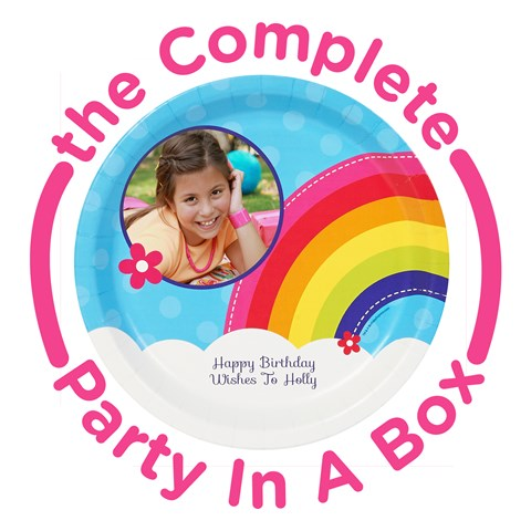 Rainbow Wishes Personalized Party in a Box