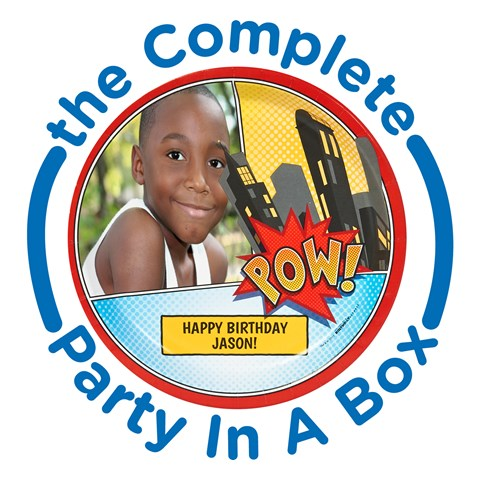 Superhero Comics Personalized Party in a Box