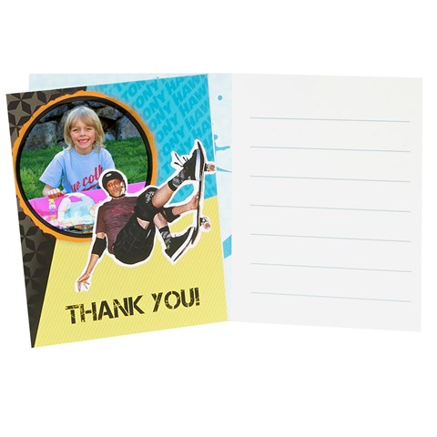 Tony Hawk Skatepark Series Personalized Thank-You Notes (8)