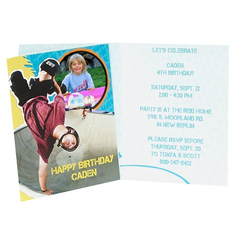Tony Hawk Skatepark Series Personalized Invitations (8)