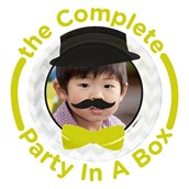 Mustache Man Personalized Party in a Box