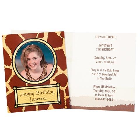 Safari Adventure Personalized Invitations (8)