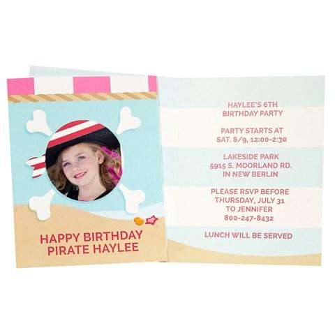 Pretty Pirates Personalized Invitations (8)