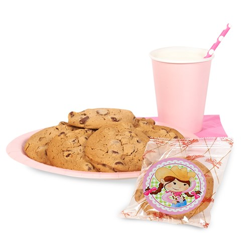 DIY Pink Cowgirl Sticker Cookie Kit