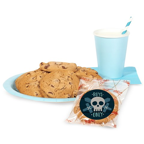 DIY Boys Only Party Sticker Cookie Kit
