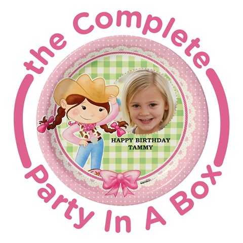 Pink Cowgirl Personalized Party in a Box