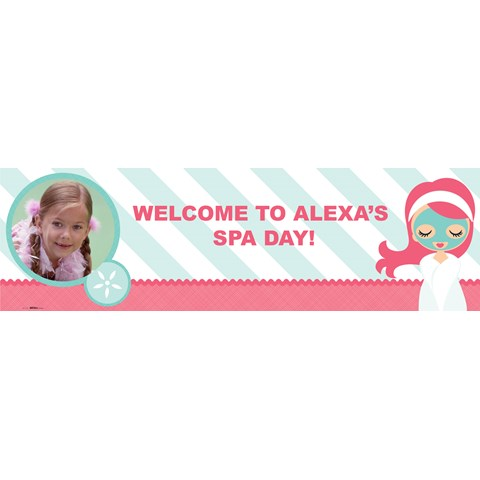 Little Spa Party Personalized Photo Banner