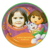 Dora's Flower Adventure Personalized Dinner Plates (8)