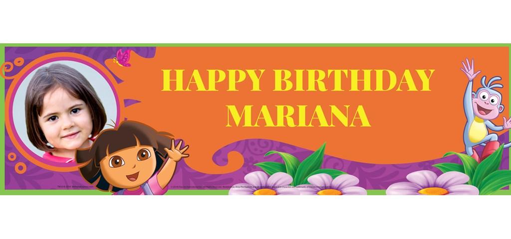 Dora's Flower Adventure Personalized Photo Banner