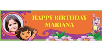 Dora's Flower Adventure Personalized Photo Vinyl Banner