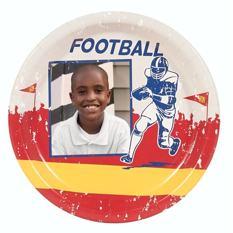 Football Game Time Personalized Dinner Plates (8)
