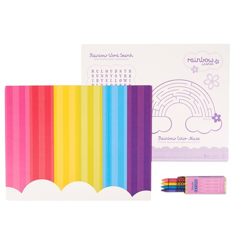 Rainbow Wishes Activity Placemat Kit for 4
