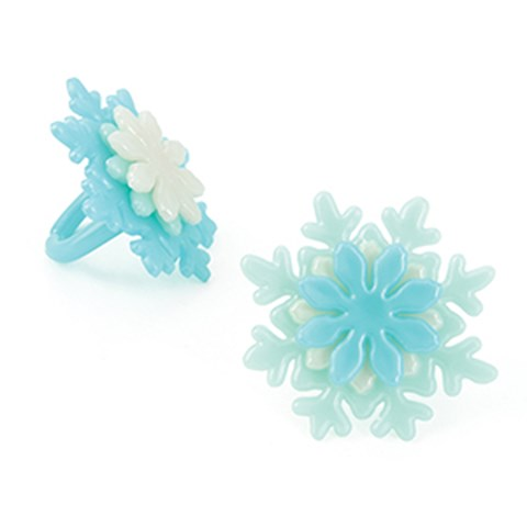 Iridescent Snowflake Rings (12)