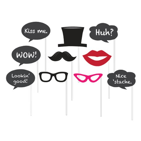 Chalkboard Photo Booth Props (10)
