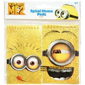Minions Despicable Me - Foil Spiral Note Pads (2)