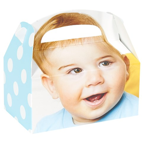 1st Birthday Boy Personalized Empty Favor Boxes (8)