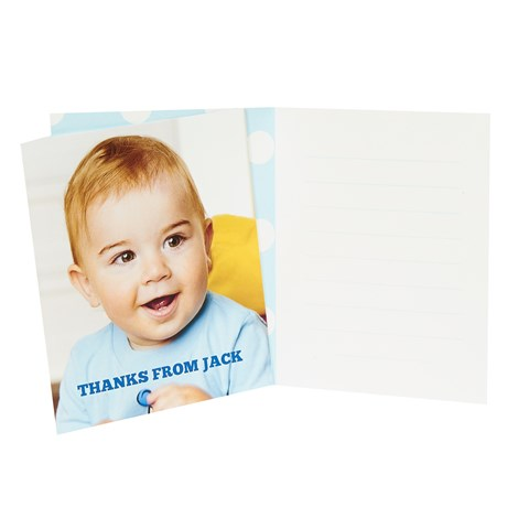 1st Birthday Boy Personalized Thank You Notes (8)