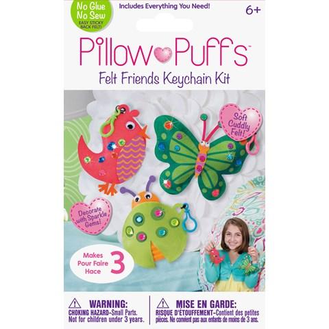 Pillow Puff Keychain Animals Kit