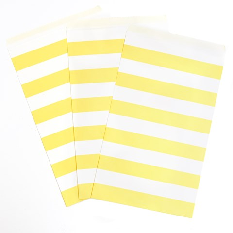 Mimosa Striped Paper Treat Bags (15)