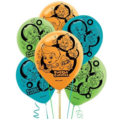 Bubble Guppies Latex Balloons (6)