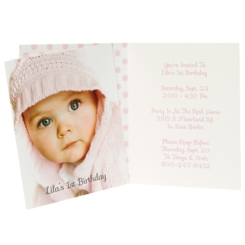 1st Birthday Girl Personalized Invitations (8)