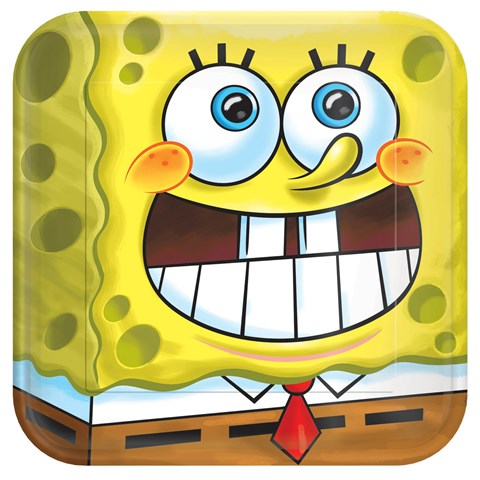 SpongeBob Classic Square Dinner Plates (8)