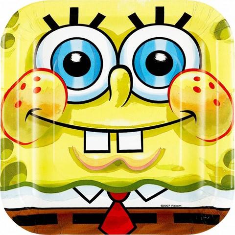SpongeBob Classic Square Dessert Plates (8)
