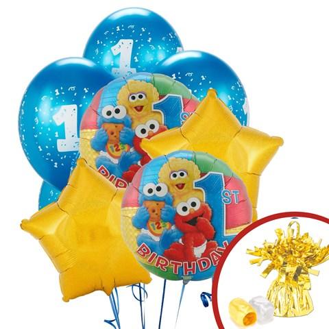 Sesame Street 1st Birthday Balloon Bouquet