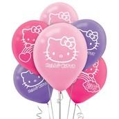 Hello Kitty Rainbow Latex Balloons (6)