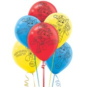 PAW Patrol Printed Latex Balloons (6)