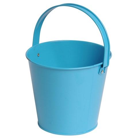 Metal Bucket - Turquoise