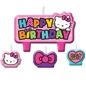 Hello Kitty Rainbow Birthday Candle Set