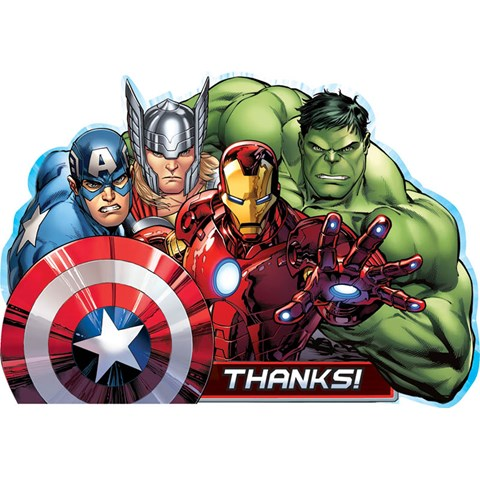 Avengers Assemble Thank-You Postcards